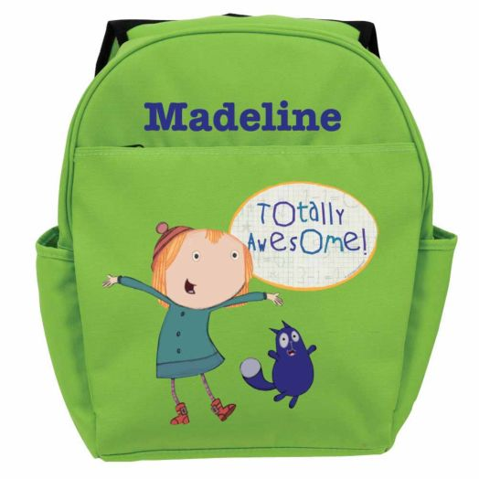 Peg + Cat Totally Awesome Green Youth Backpack