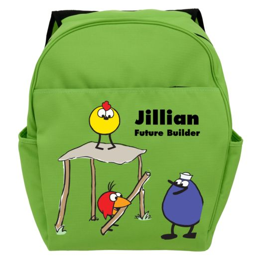 Peep and the Big Wide World Future Builder Green Toddler Backpack