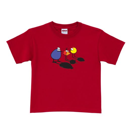 Peep & the Big Wide World Shadows Red Adult T-Shirt