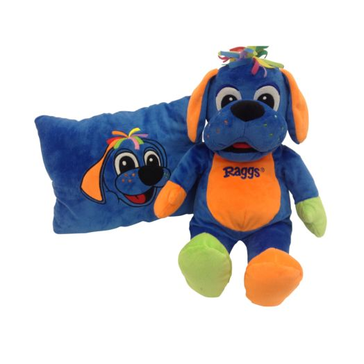 "Raggs 19"" Peek A Boo Dog Two-in-One Surprise Pillow"