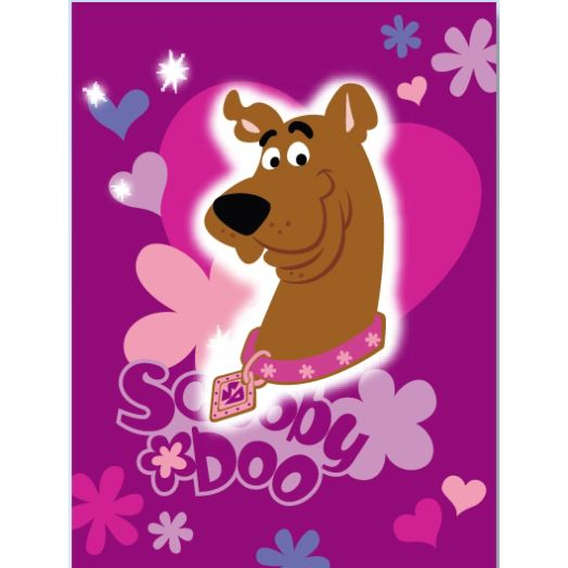 Scooby Doo Hearts And Flowers Twin Blanket