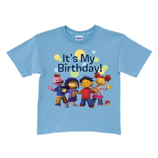 Sid the Science Kid It's My Birthday Light Blue T-Shirt
