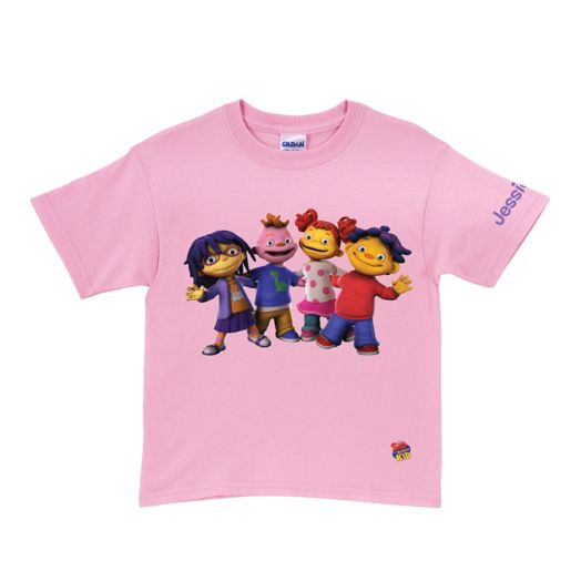 Sid the Science Kid & Friends In-A-Row Pink T-Shirt