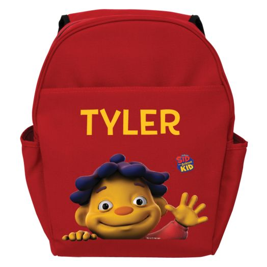 Sid the Science Kid Says Hello Red Toddler Backpack