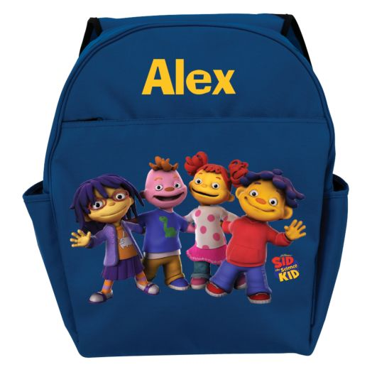 Sid the Science Kid & Friends In-A-Row Blue Toddler Backpack