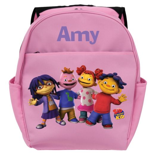 Sid the Science Kid & Friends In-A-Row Pink Toddler Backpack