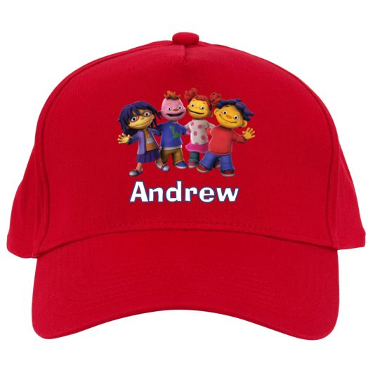 Sid the Science Kid Friends in a Row Red Baseball Hat