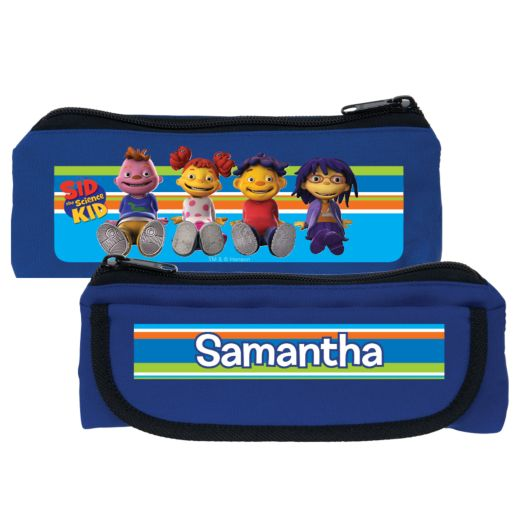 Sid the Science Kid in Stripes Blue Pencil Case