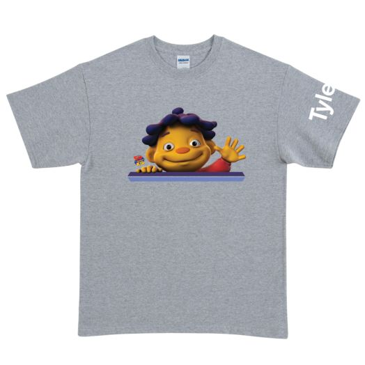 Sid the Science Kid Says Hello Gray Adult T-Shirt