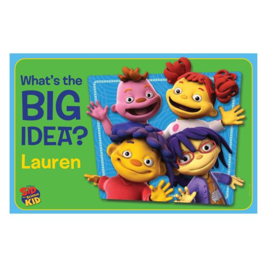 Sid the Science Kid What's the Big Idea Placemat