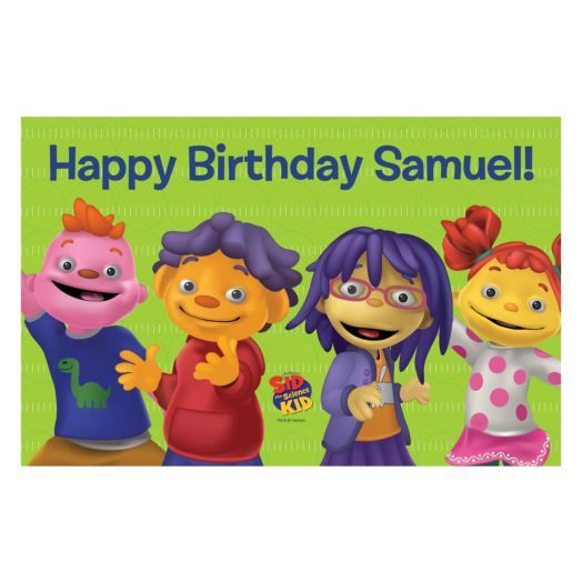 Sid the Science & Friends Say Happy Birthday Placemat