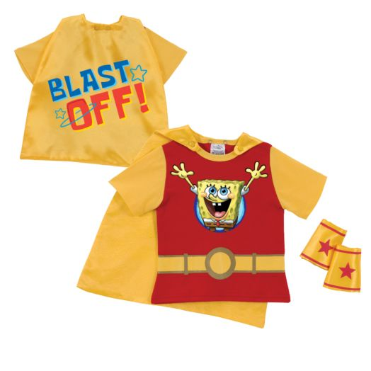 SpongeBob SquarePants Blast Off Red Super Tee and Cuffs
