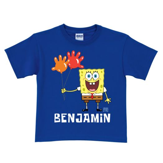 SpongeBob SquarePants Balloon Birthday Royal Blue T-Shirt