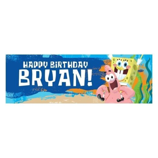 SpongeBob SquarePants Birthday Banner