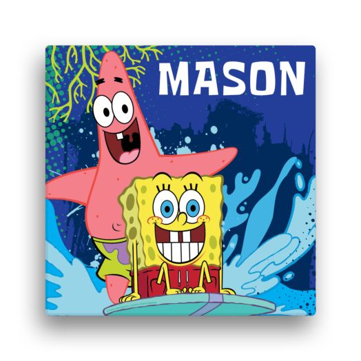 "Spongebob SquarePants Surfing 12""x12"" Canvas Wall Art"