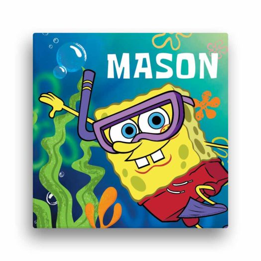 "Spongebob SquarePants Snorkel 12""x12"" Canvas Wall Art"