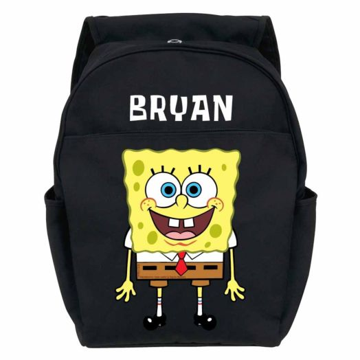 SpongeBob SquarePants Black Youth Backpack