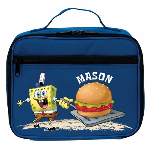 SpongeBob SquarePants Crabby Patty Blue Lunch Bag