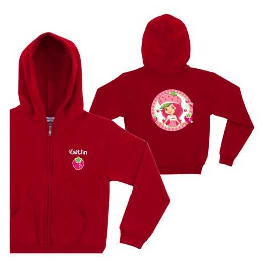 Strawberry Shortcake Super Sweet Red Zip-Up Hoodie