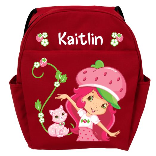 Strawberry Shortcake & Custard Super Sweet Red Youth Backpack