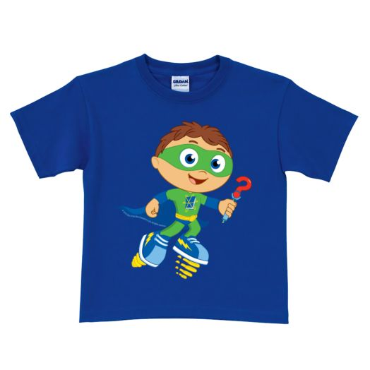 Super Why Why Writer Royal Blue T-Shirt