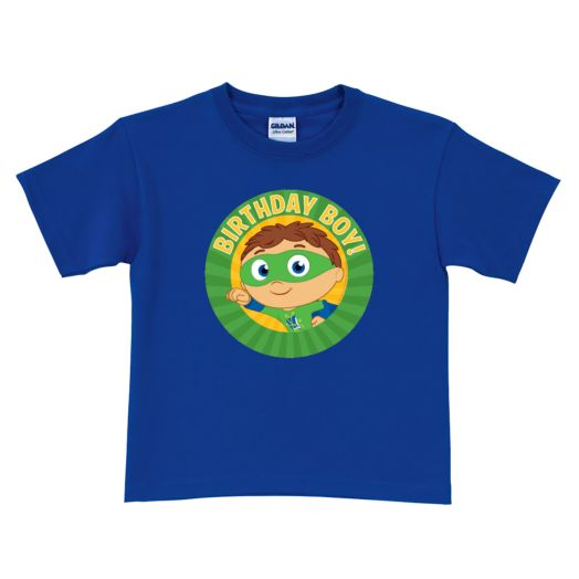 Super Why Birthday Boy! Royal Blue T-Shirt