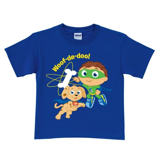 Super Why & Woofster To the Rescue Royal Blue T-Shirt