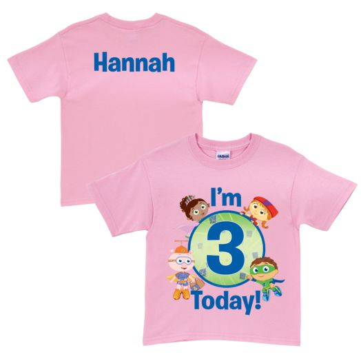 Super Why Super Readers Birthday Pink T-Shirt