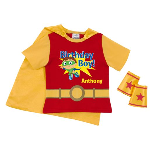 Super Why Birthday Boy to the Rescue! Red Super Tee