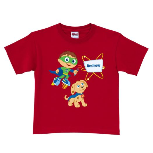 Super Why & Woofster Bark-a-rooney! Red T-Shirt