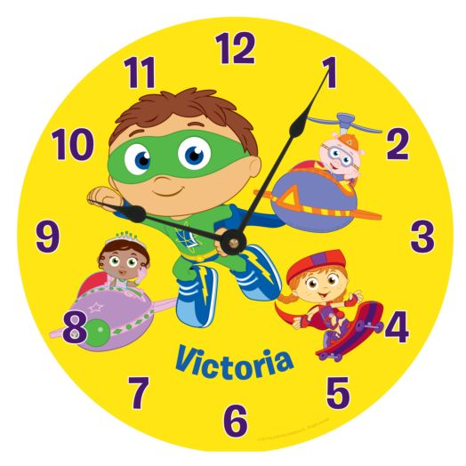 Super Why Reading Time Wall Clock