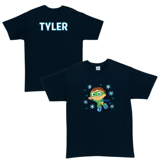 Super Why Snowy Navy Adult T-Shirt