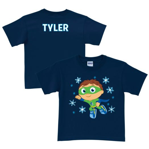 Super Why Snowy Navy T-Shirt