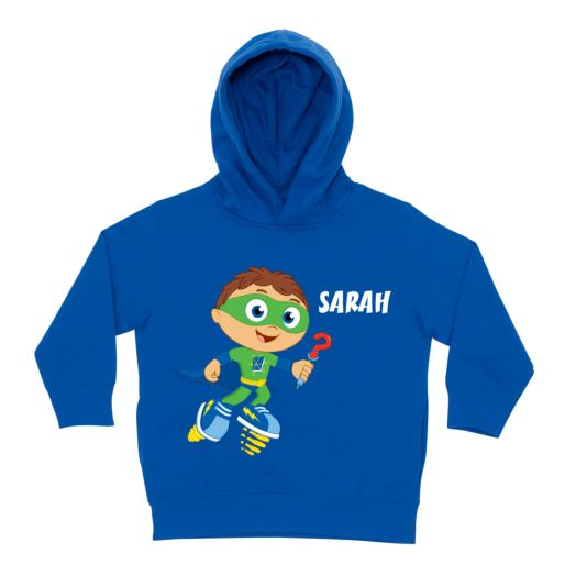 Super Why Why Writer Royal Blue Toddler Hoodie