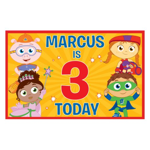 Super Why & Friends Birthday Placemat
