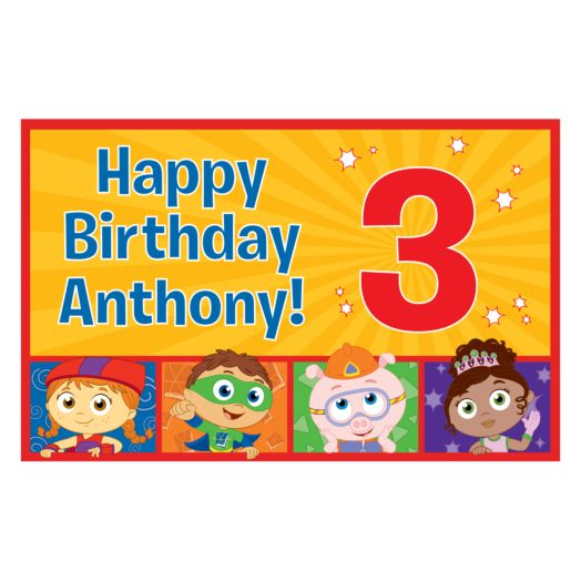 Super Why Happy Birthday Placemat