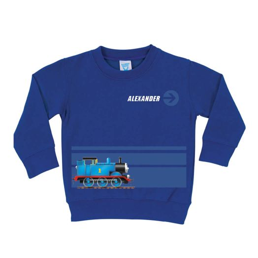 Thomas & Friends Stripe Royal Blue Pullover Sweatshirt
