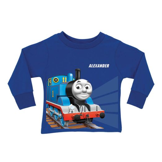 Thomas & Friends Tracks Royal Blue Long Sleeve Tee