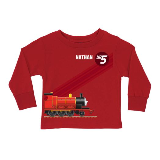 Thomas & Friends James No. 5 Red Long Sleeve Tee