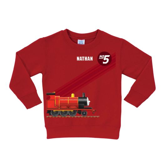 Thomas & Friends James No. 5 Red Pullover Sweatshirt