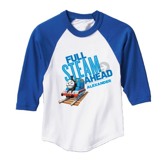 Thomas & Friends Full Steam Ahead Royal Blue Sports Jersey