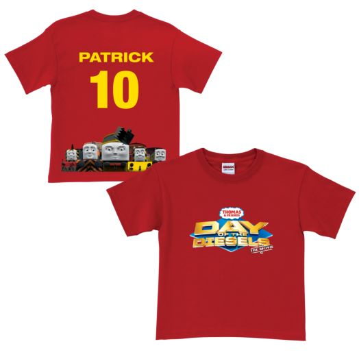 Thomas & Friends Day of the Diesels Line Up Red T-Shirt