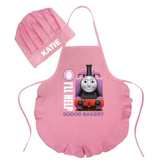 Thomas & Friends Rosie's Sodor Bakery Pink Youth Apron & Chef Hat