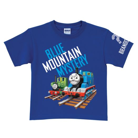 Thomas & Friends Blue Mountain Mystery Tracks Royal Blue T-Shirt