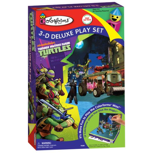 Teenage Mutant Ninja Turtles Colorforms 3-D Deluxe Playset