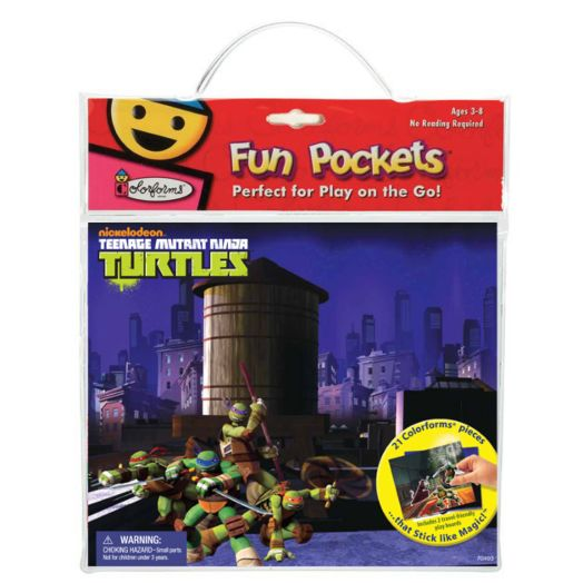 Teenage Mutant Ninja Turtles Colorforms Fun Pockets