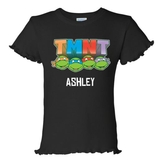 Teenage Mutant Ninja Turtles Retro Black Ruffle Tee
