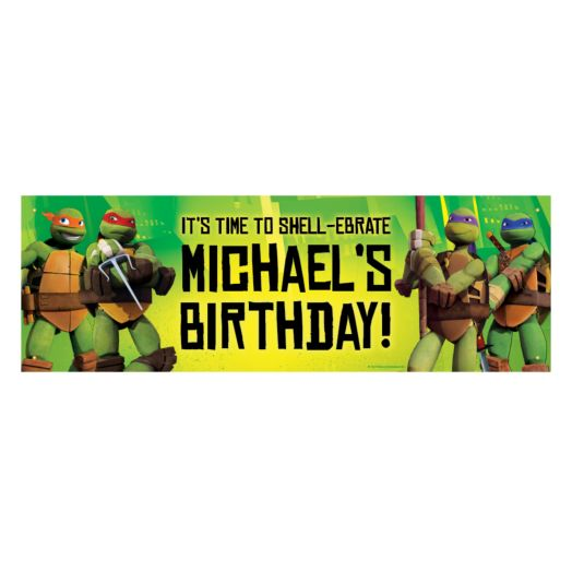 Teenage Mutant Ninja Turtles Shell-Ebrate Birthday Banner