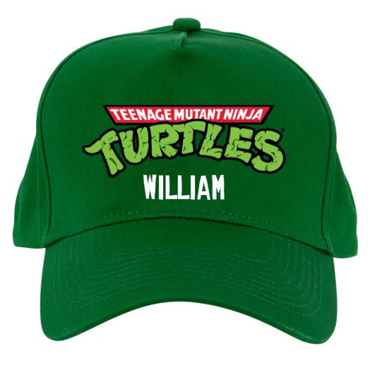 Teenage Mutant Ninja Turtles Retro Logo Green Baseball Hat