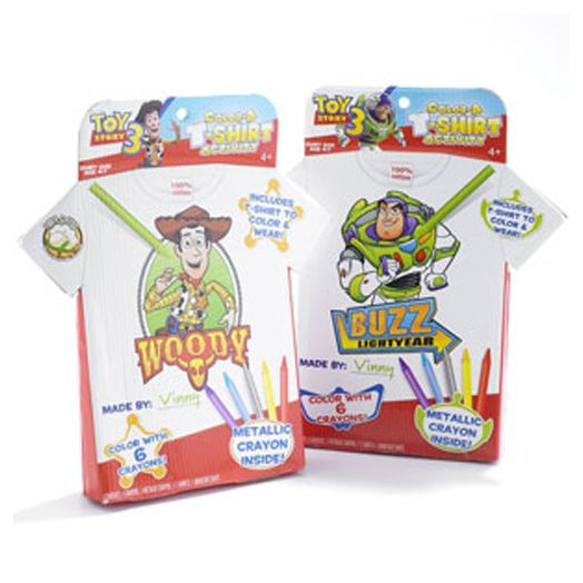 Toy Story 3 Color-A T-Shirt Activity